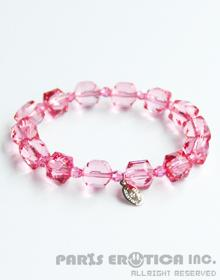 LUCITE AND CRYSTAL BRACELET