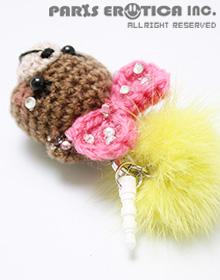 Amigurumi earphone jack accessory