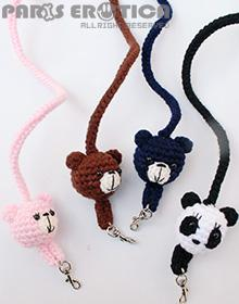 KNIT BEAR LEASH